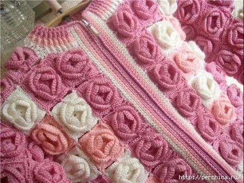 VERY EASY crochet cardigan / sweater / jumper tutorial - baby and ...