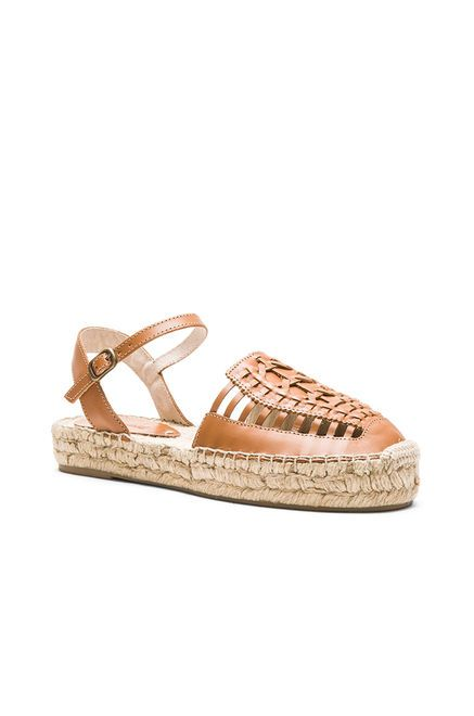 Soludos Platform Huarache Sandal in Vachetta | REVOLVE