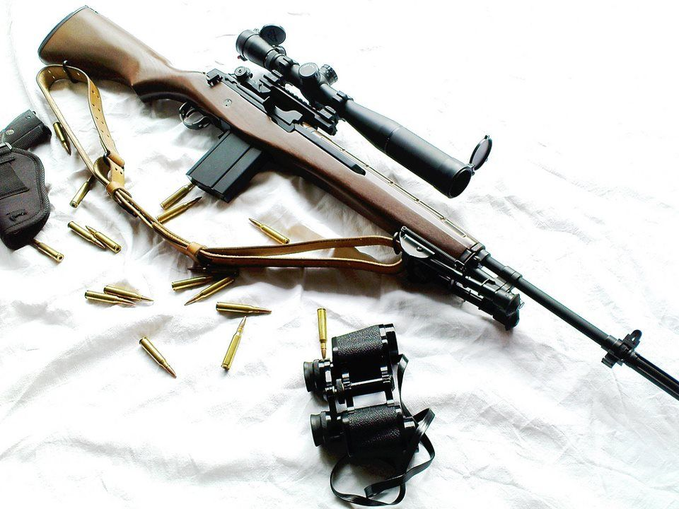 M1a/M14 former standard rifle for the US military from the ... M14 Sniper Rifle Usmc