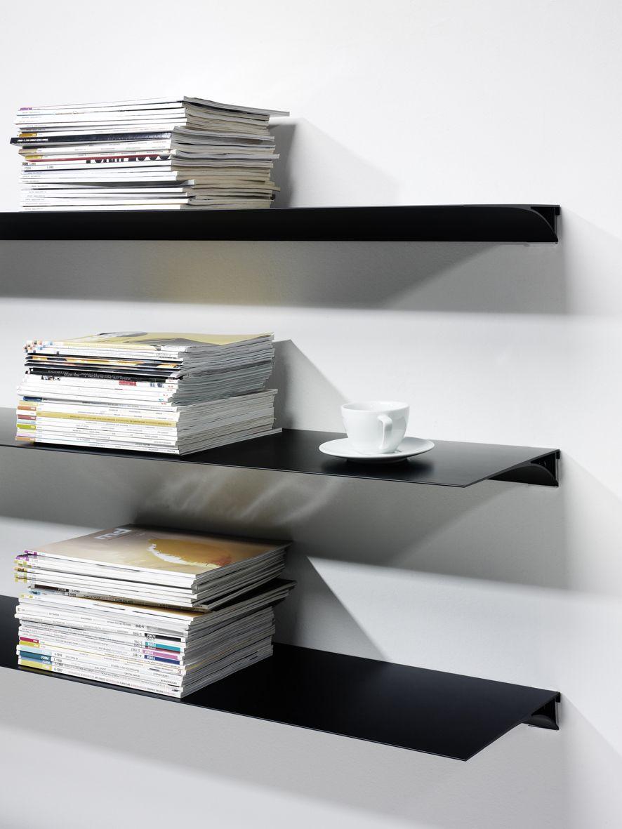envison shelving system  extruded aluminum shelving peter pepper  - aluminum floating shelf 'exilis' from nonuform