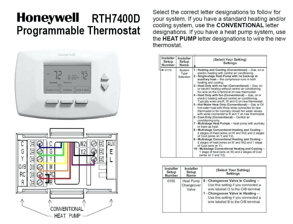 Honeywell Thermostat 2 Wire Thermostat Wiring Diagram Heat Only