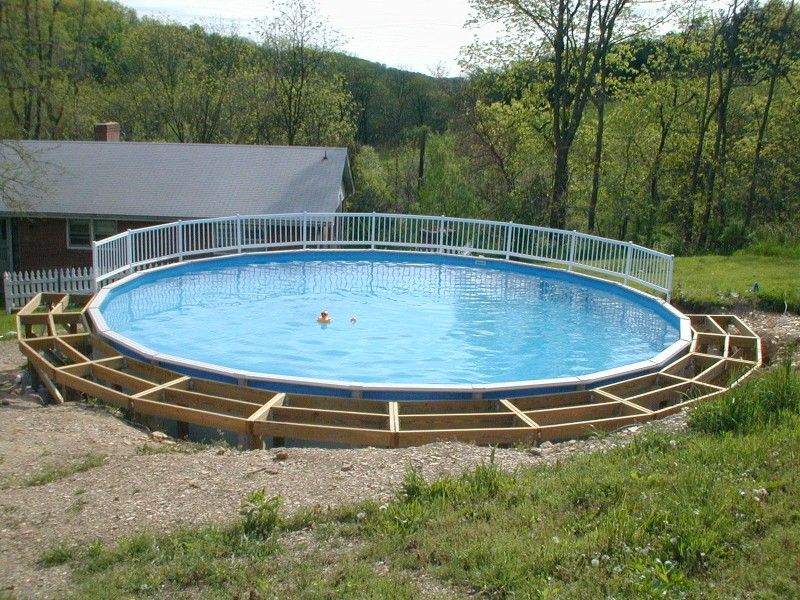 Above ground pool deck design for Most popular above ground pools
