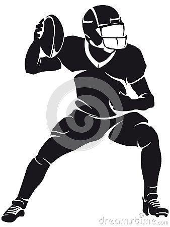 Jugador De Futbol Americano Silueta Jugadores De Futbol Americano Jugador De Futbol Siluetas