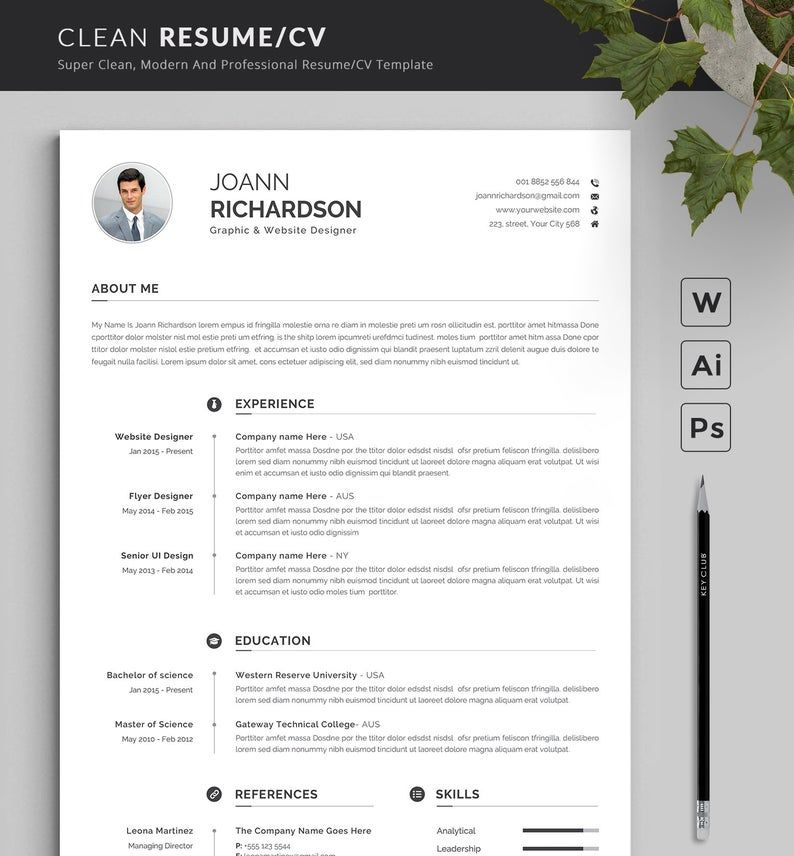 Modern and Creative Resume Template Modern