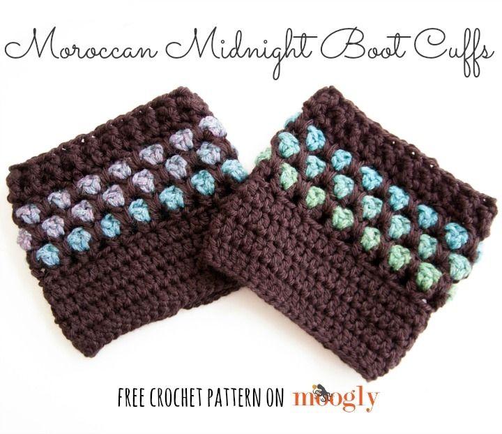 Free Crochet Boot Cuff Patterns | Knitting Bordado | Pinterest