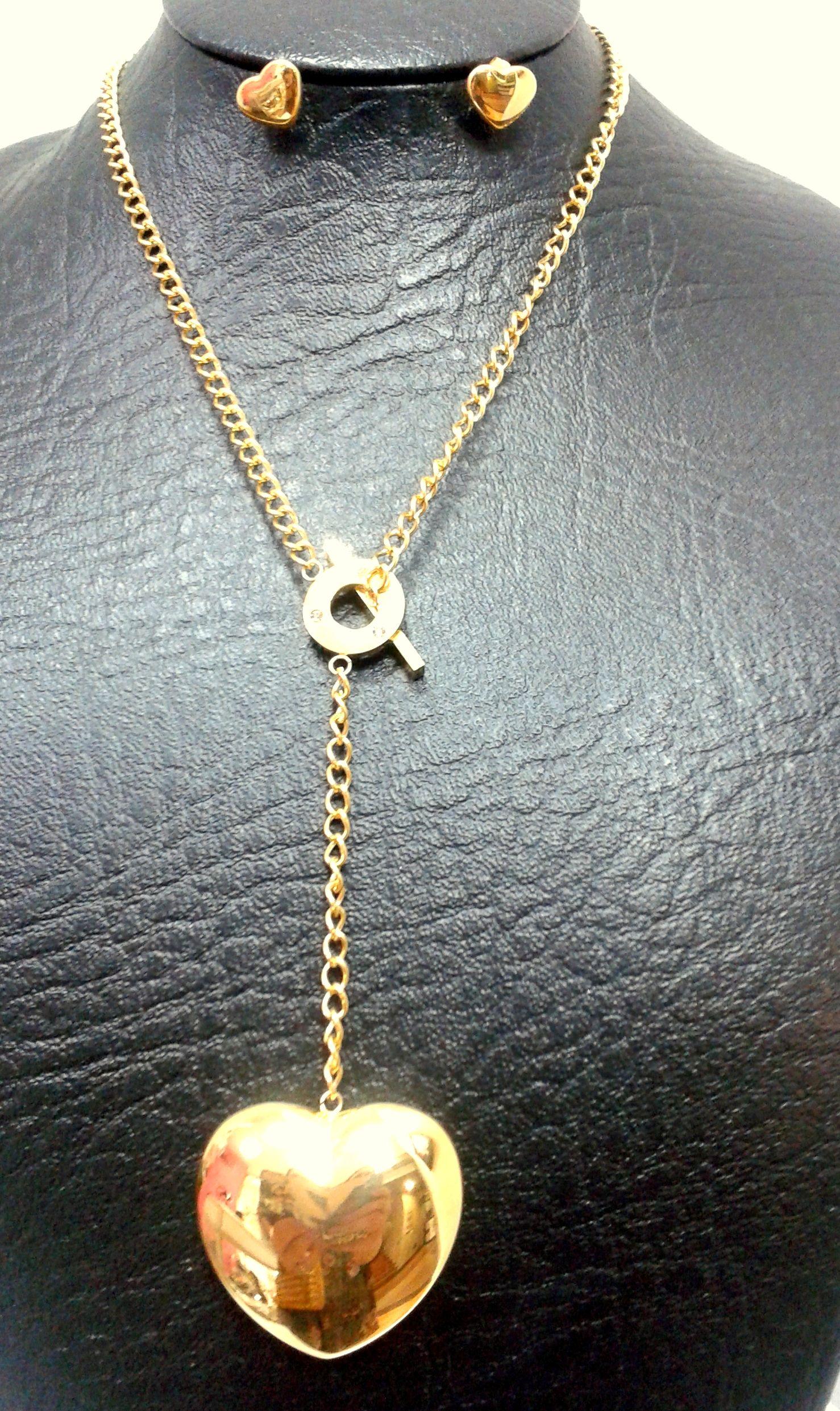 Remolque de acero inoxidable negro con swarovski elements piedras /& Collar de cuero