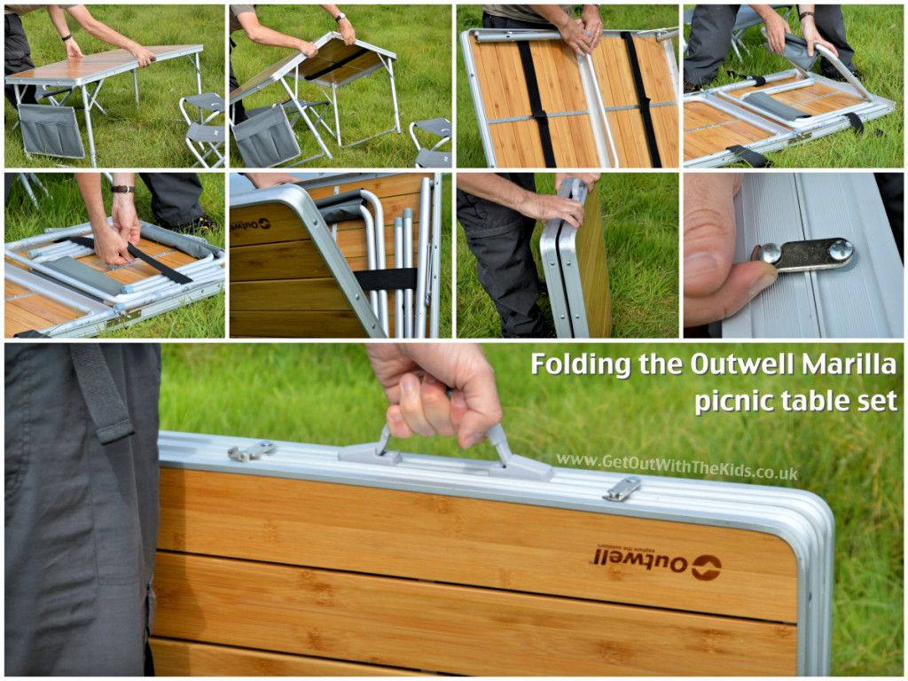 Folding the Outwell Marilla PIcnic Table Set | Ideas for our ...