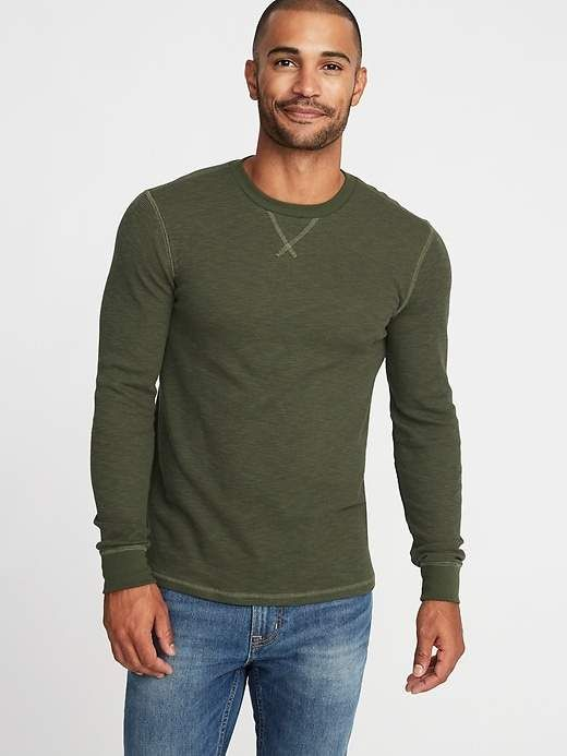 c2f16cb2c9b Old Navy Soft-Washed Thermal Crew-Neck Tee for Men