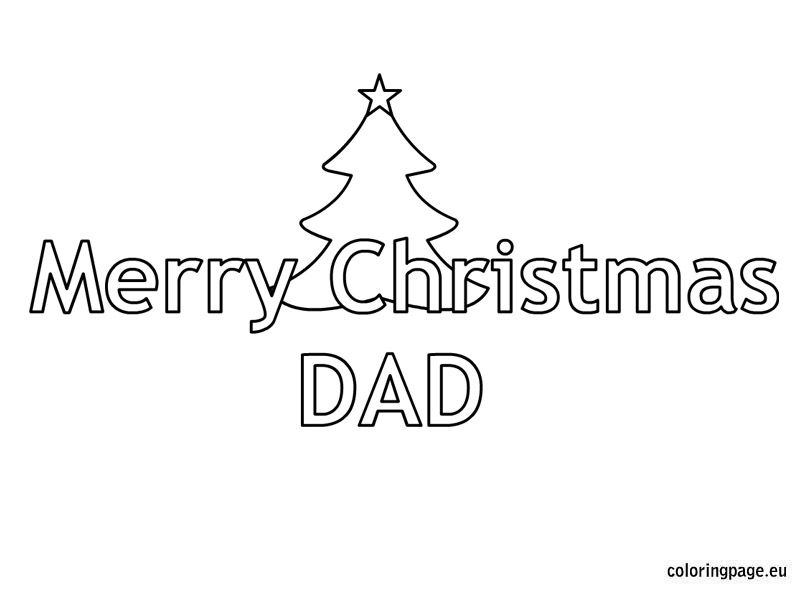 printable coloring pages merry christmas dad