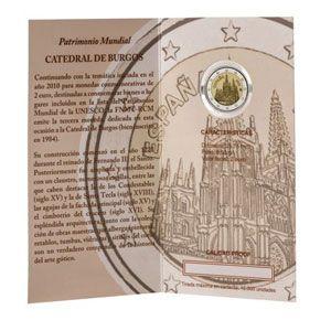 Moneda Conmemorativa 2 Euros Espana 2012 Burgos Proof Monedas