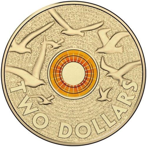 "Australia 2 dollars 2016 /""Paralympic Team/"" COLORED UNC"