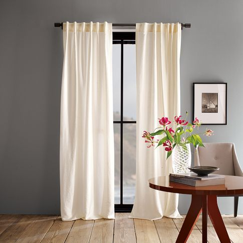 Luxe Window Panel West Elm Also Wall Color And Decor Win Curtains For Grey Walls Ivory Curtains Dark Grey Walls