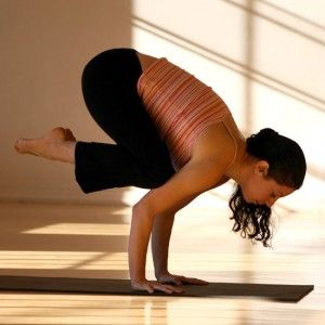 so i actually tried to do this pose crow pose in yoga