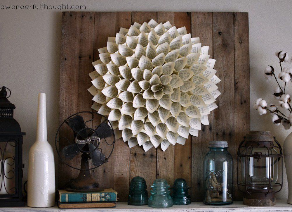 9 Smart Uses For Dusty Old Books Book Page Wreath Old Book
