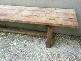 Oude teakhouten bank eettafelbank houten bankje tuinbank landelijk