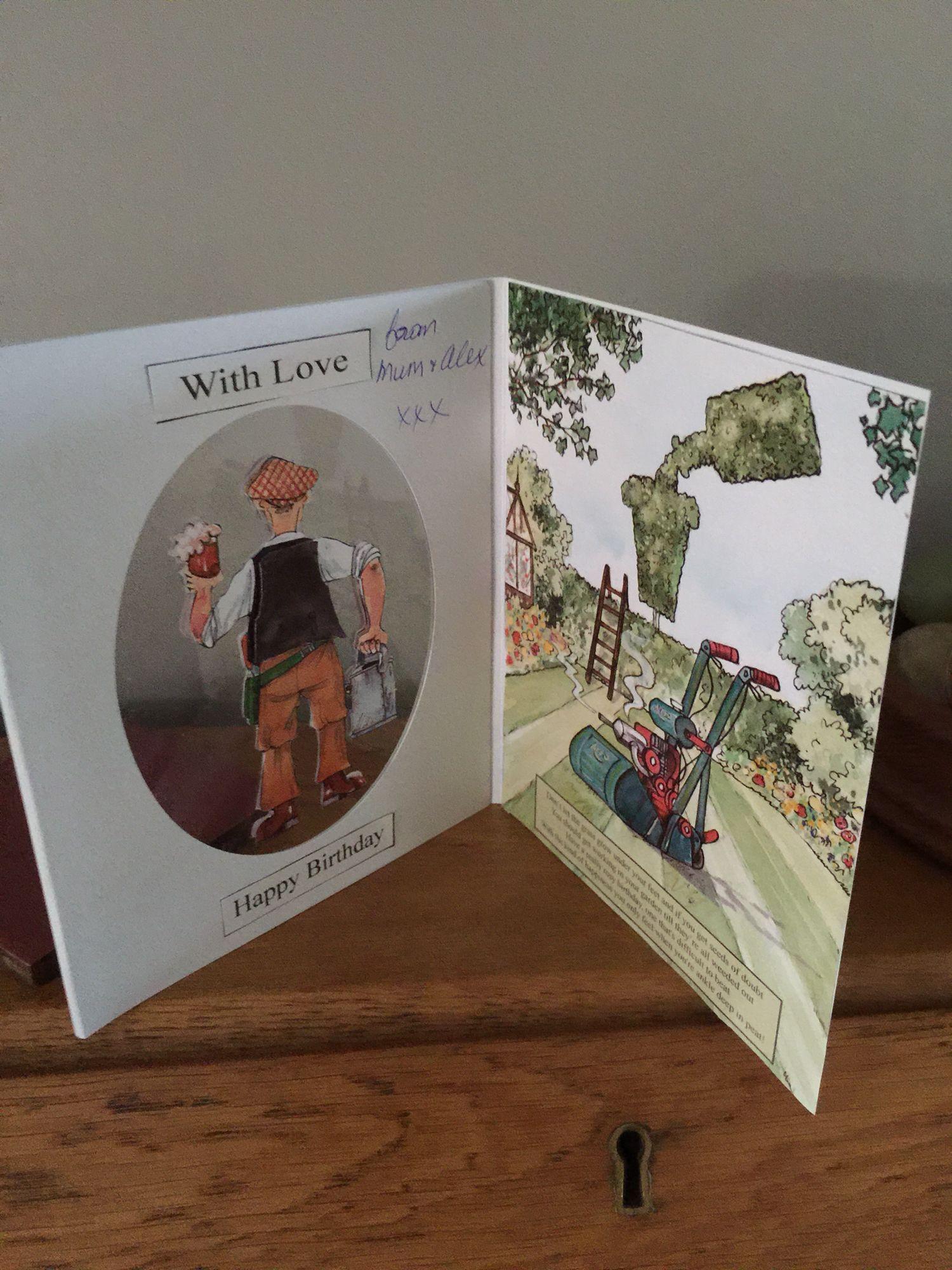 Backside/inside of card
