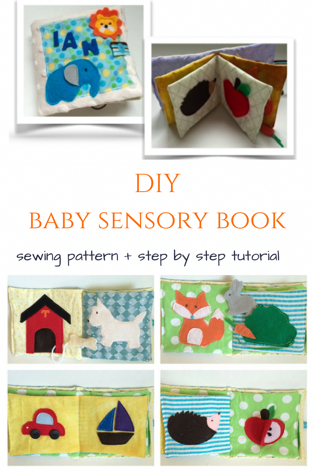 Sewing pattern with easy to follow step by step tutorial for baby ...