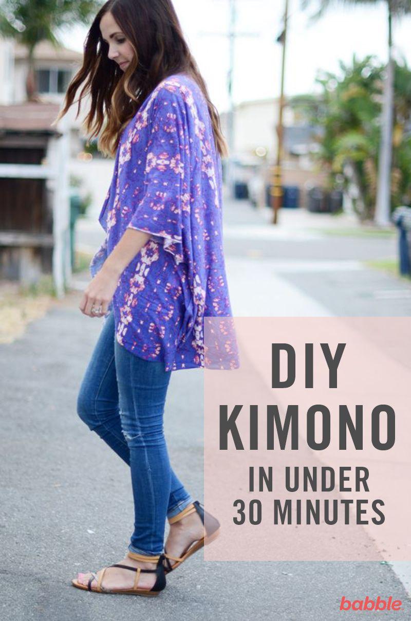 How to DIY This Pretty Kimono (in Less Than 30 Minutes) | Pinterest ...