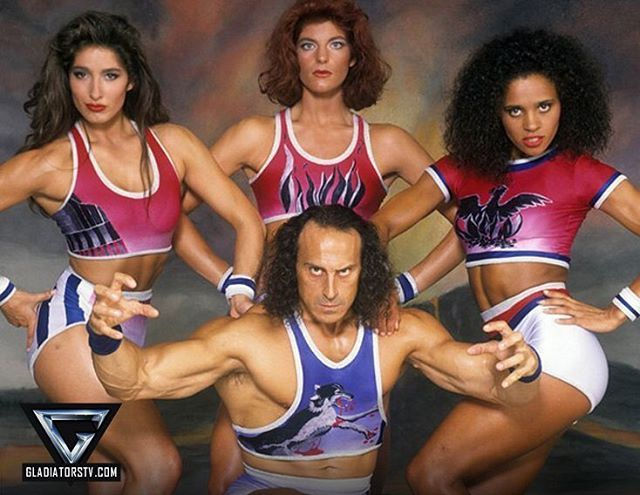 Wolf and the girls Jet, Flame and Phoenix. | Gladiators ...