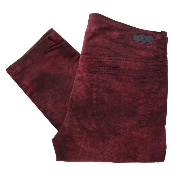 Diesel Grupee Burgundy Jeans ($225) ❤ liked on Polyvore