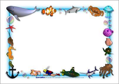 Ocean Themed A4 Page Borders Sb3881 Sparklebox Under The Sea