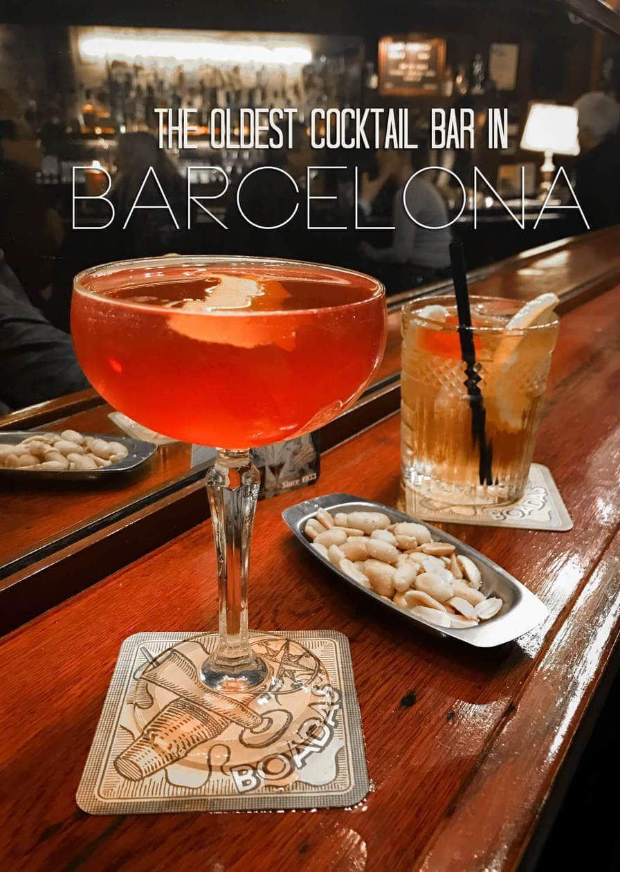 The Oldest Cocktail Bar In Barcelona Las Boadas Cocktail Bar Cocktails Barcelona Bars