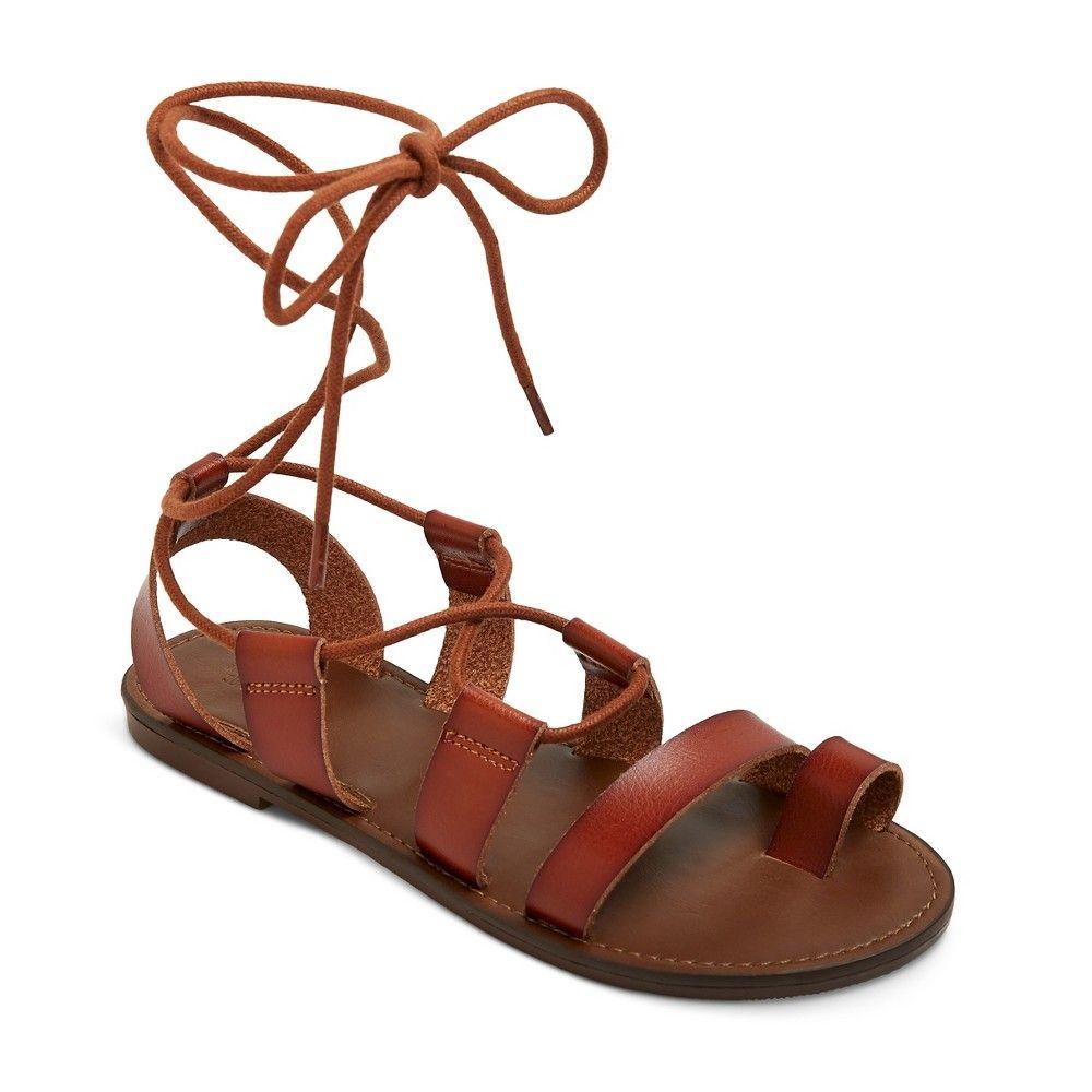 8f1594fc5ca5 Women s Lilac Gladiator Sandals - Cognac (Red) 5.5