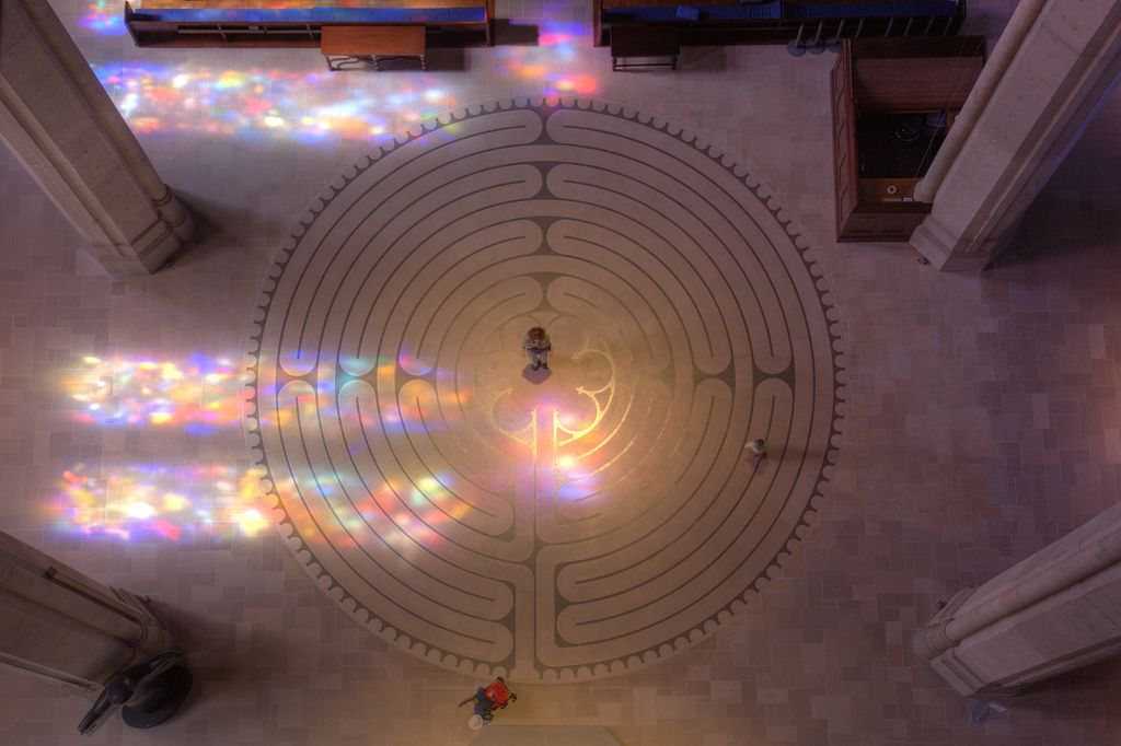 Grace Cathedral's indoor labyrinth