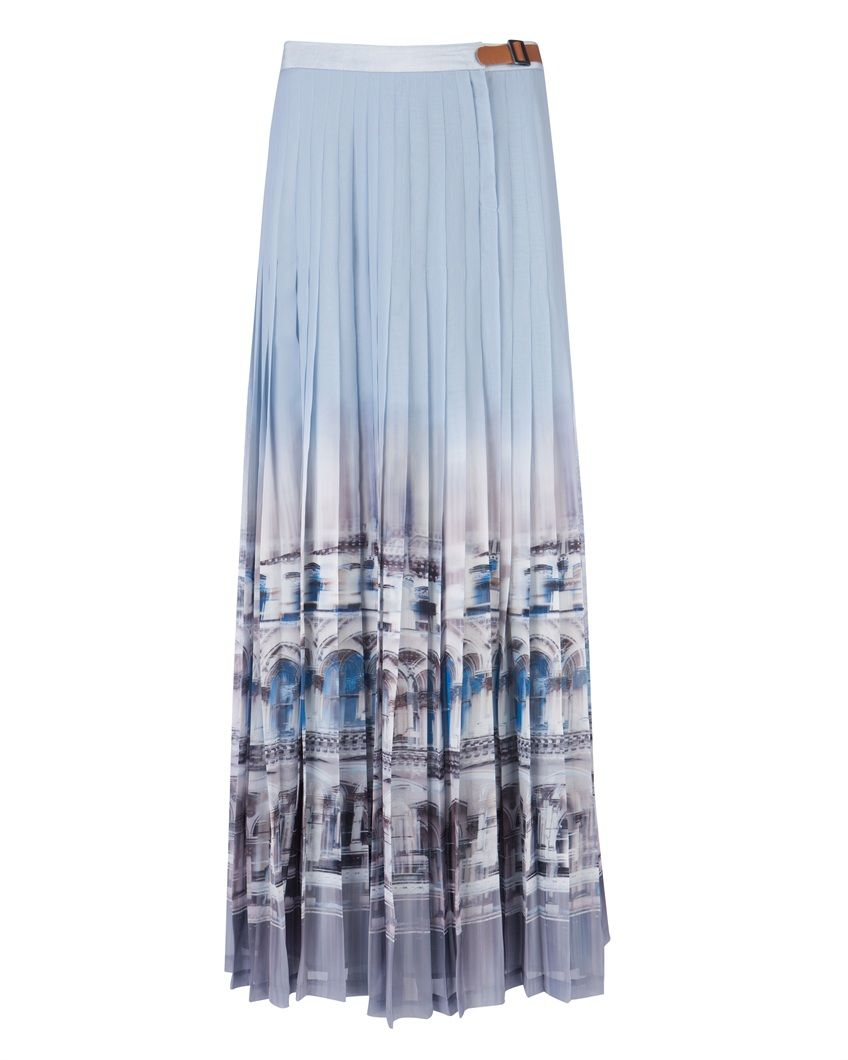 DAVINA - Printed maxi skirt