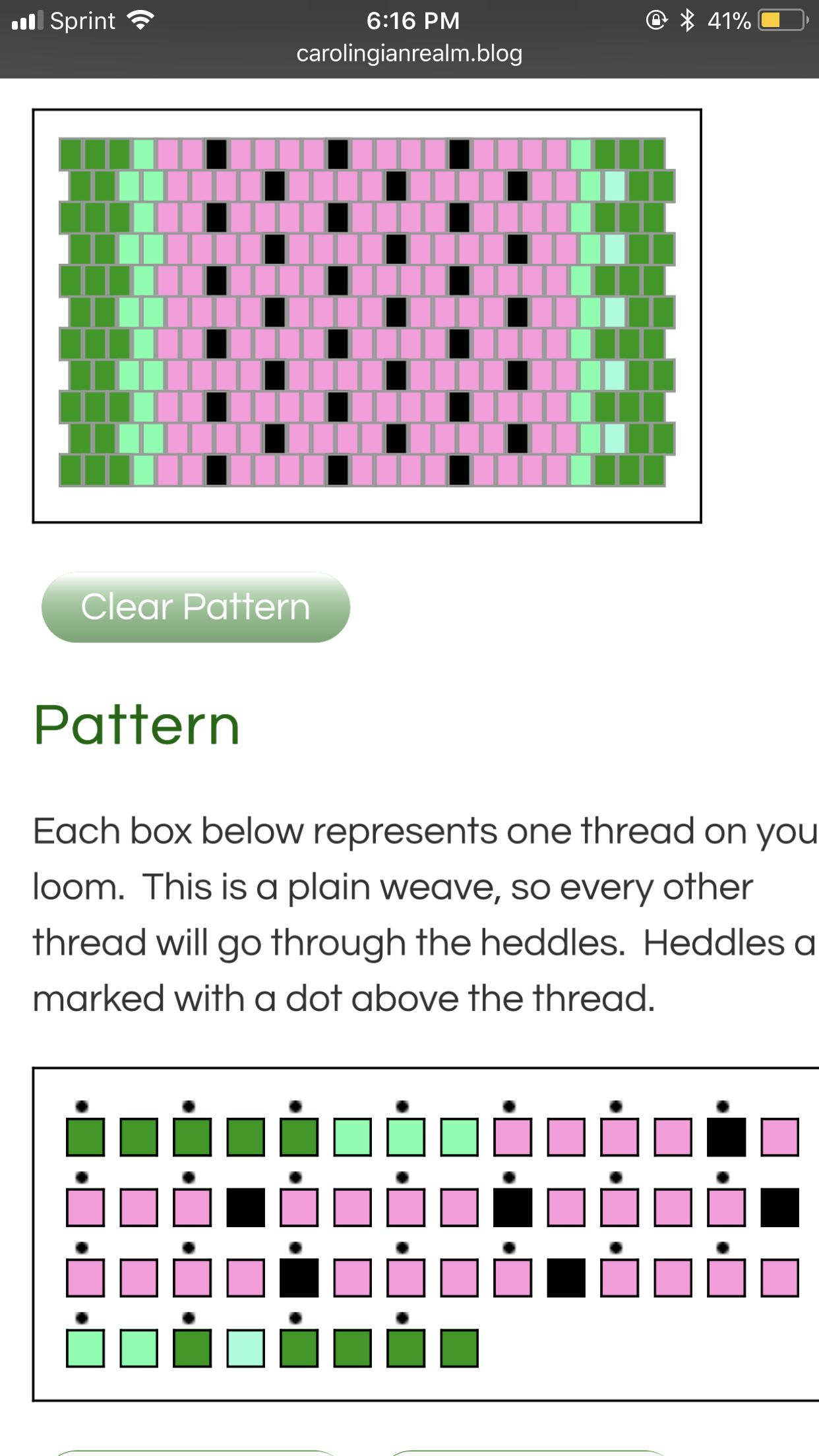 Made With The Pattern Generator Linked Inkle Loom Loom