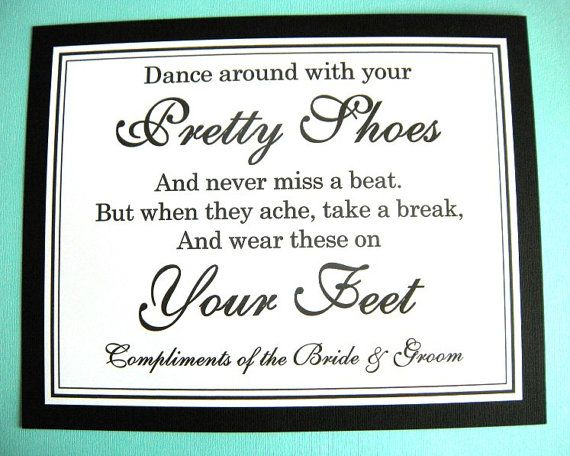 5c00a116cc2e0c 8x10 Flat Dance Around With Your Pretty Shoes Wedding Flip Flop Sign in  Black and White by WeddingsBySusan