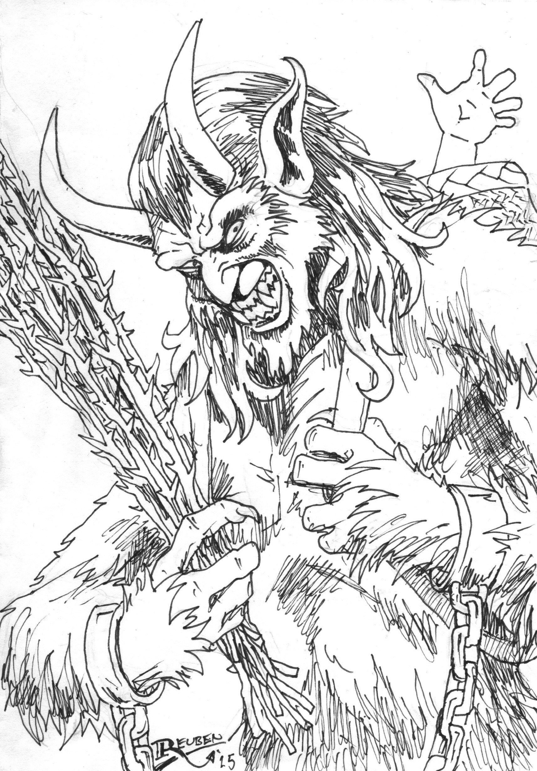 18 Krampus Coloring Pages ideas  krampus, coloring pages, creepy