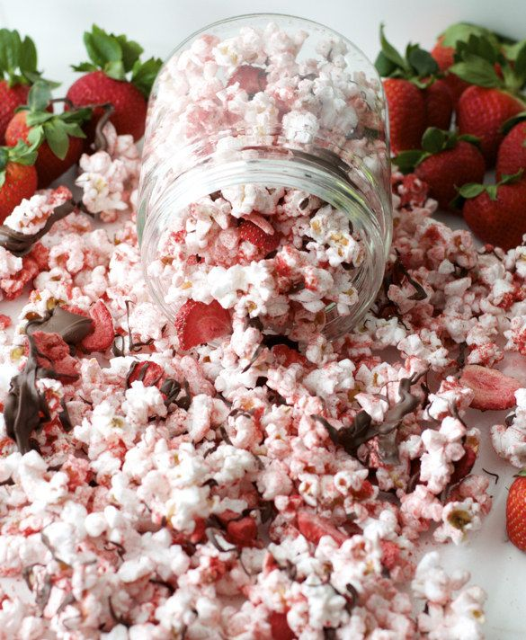 21 Ways To Use Chocolate And Strawberries Outside Of The Bedroom Popcorn Recipes Flavored Popcorn Chocolate Covered Popcorn