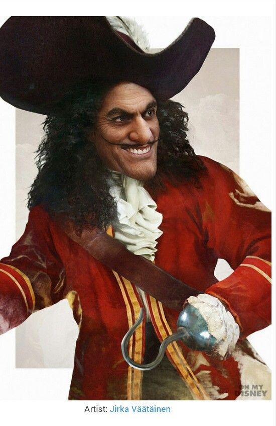 Captain Hook In Real Life Disney Villians Disney Villains Real Life Disney Characters
