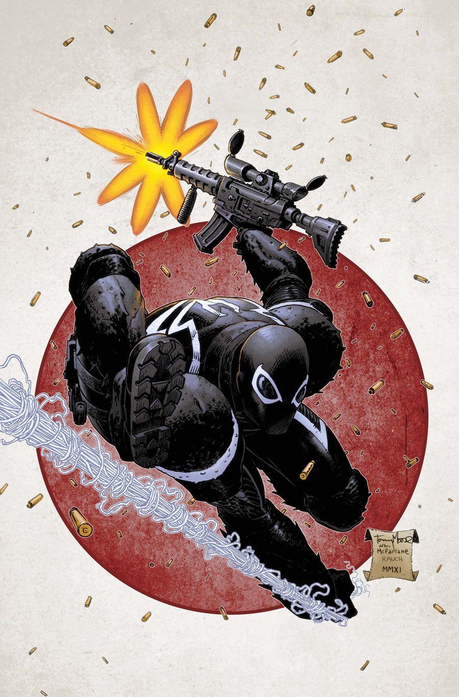 Venom Vol 2 #2 Cover Artists Tony Moore and John Rauch