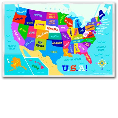 Olive Kids United States Map Placemat Is A Great Way To Teach Kids About States