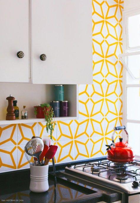 23-decoracao-cozinha-parede-azulejos-amarelos-Lurca