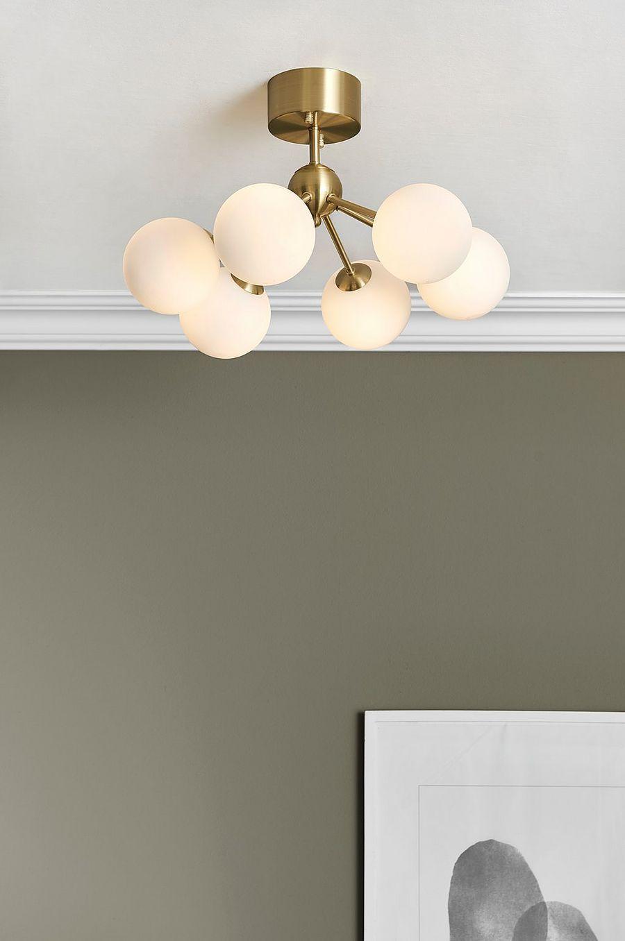 Flush-Mount Lampe De Plafond 40 Cm Grand
