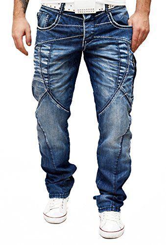 Cipo Baxx Jeans Many Stitches Blue Zip Pockets Urban City Style W29 38 L32 L34 D R Fashion Http Www Am Denim Jeans Ideas Mens Jeans Fit Mens Designer Jeans