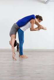 image result for yoga poses challenge for two  partner