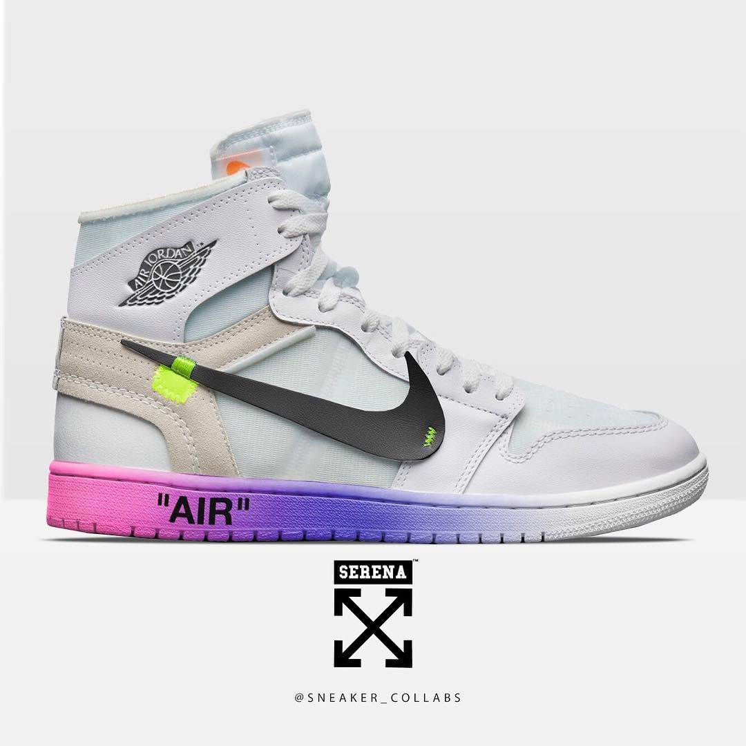 """8467a2f848f88 Sneaker Collabs™ on Instagram  """"Off White for Serena Williams AJ1 🔥😈"""""""