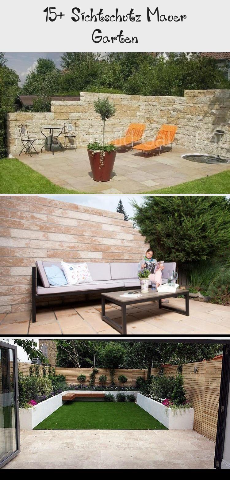15 Sichtschutz Mauer In 2020 Garten Mauer Sichtschutzmauer