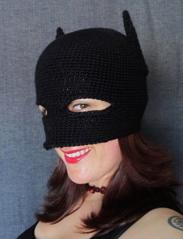 New And Improved Crochet Batman Mask Pattern Free Beauty And The