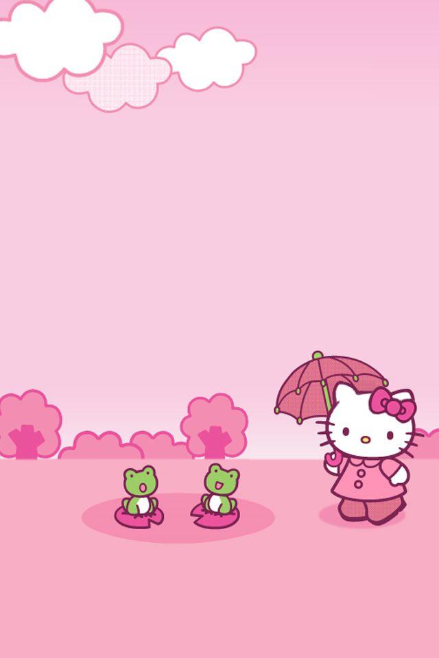 Hello Kitty Pink Ios Iphone 4 Wallpaper Hello Kitty Pinterest
