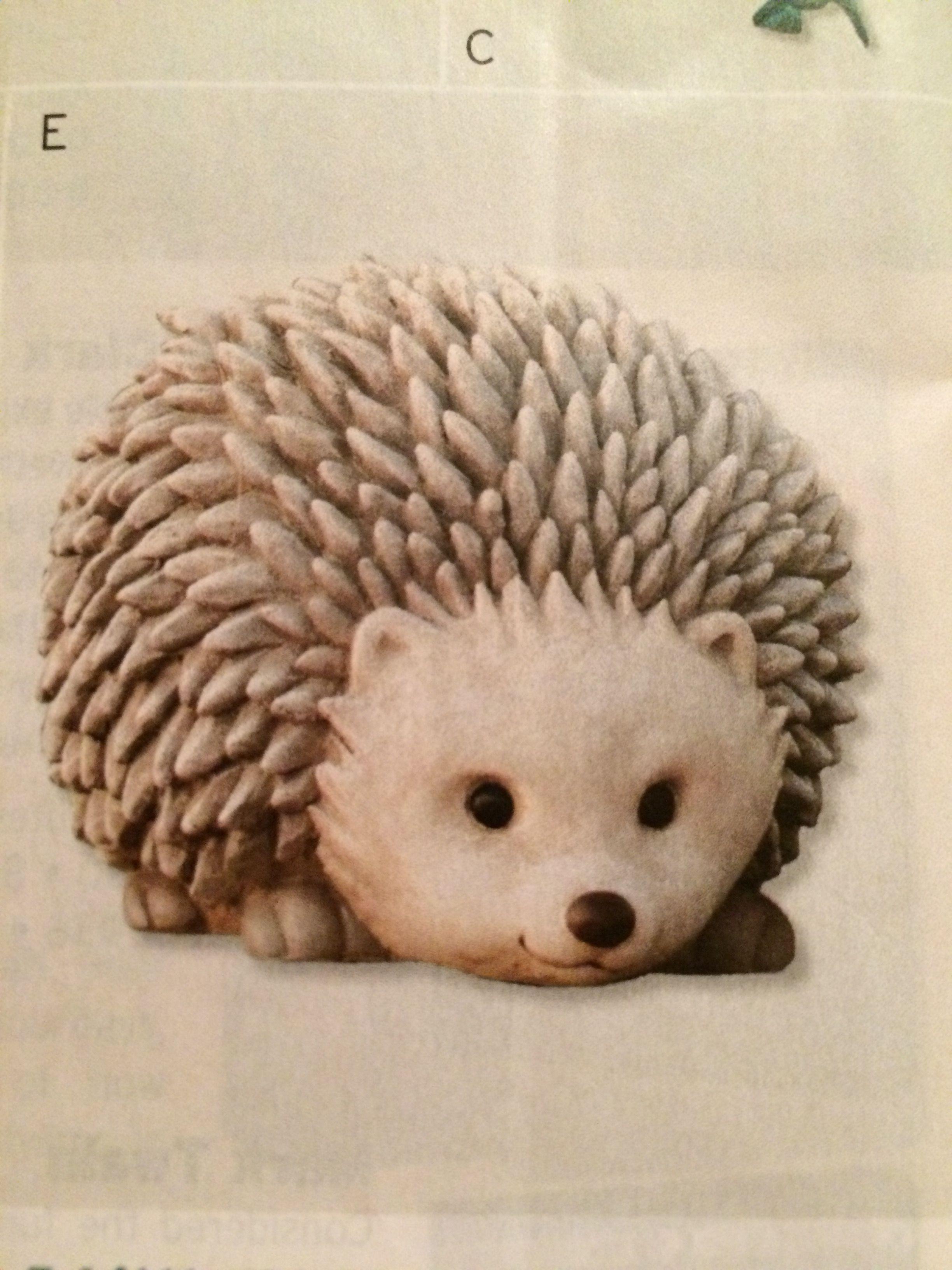PBS catalog Hedgehog garden sculpture -$24.99 and pricelessly cute!