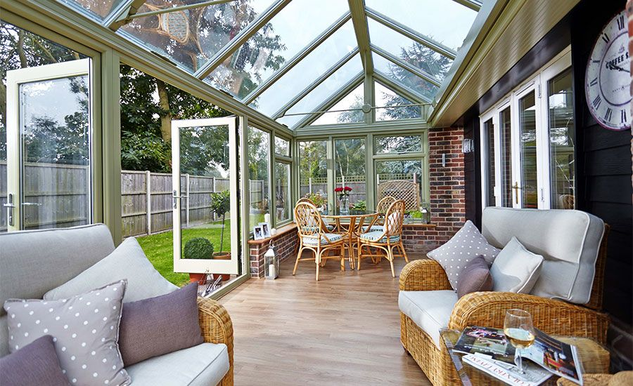 Best Wooden Conservatory In Sage Green Conservatory Roof Victorian Conservatory Conservatory 400 x 300