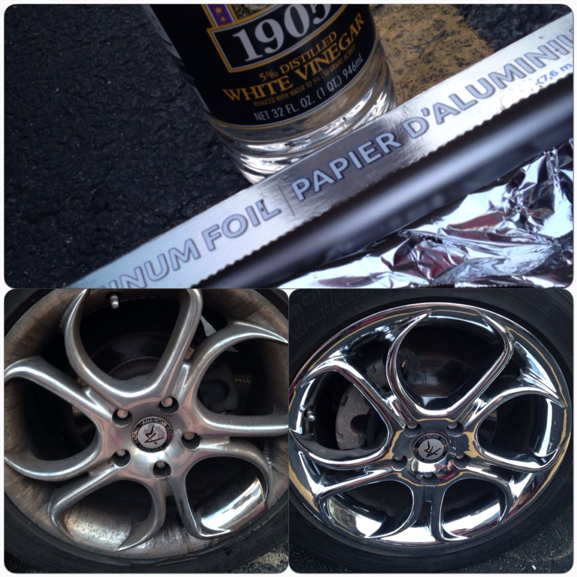 How to make rims shiny with aluminum foil and white