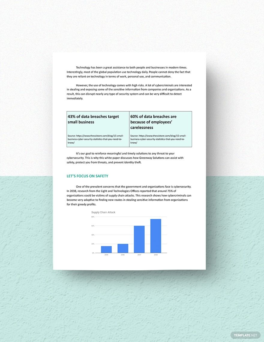 Cyber Security White Paper Template In 2020 Paper Template Cyber Security Templates