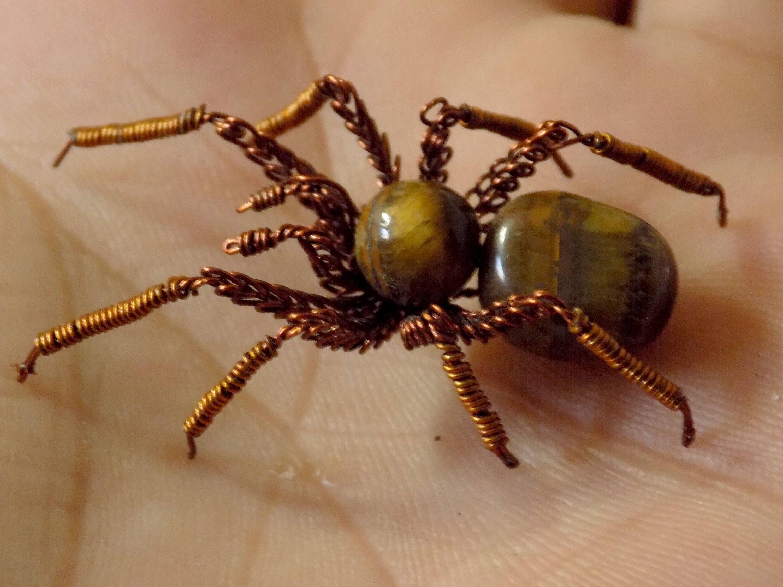 Spider Tiger, spider wire, Tiger\'s eye, decoration for halloween
