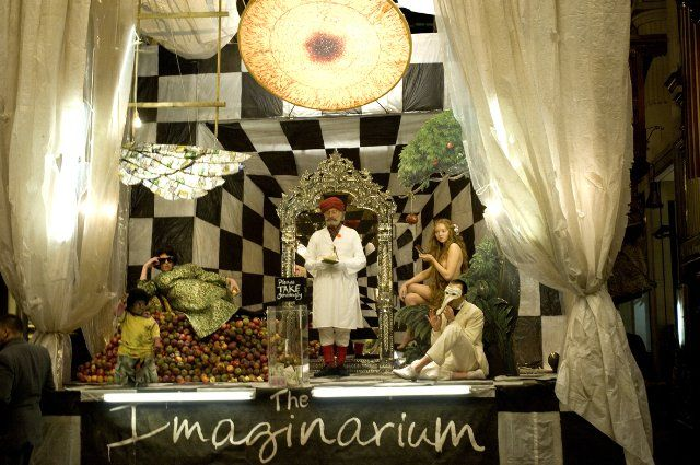 Still of Christopher Plummer, Heath Ledger, Verne Troyer, Andrew Garfield and Lily Cole in The Imaginarium of Doctor Parnassus